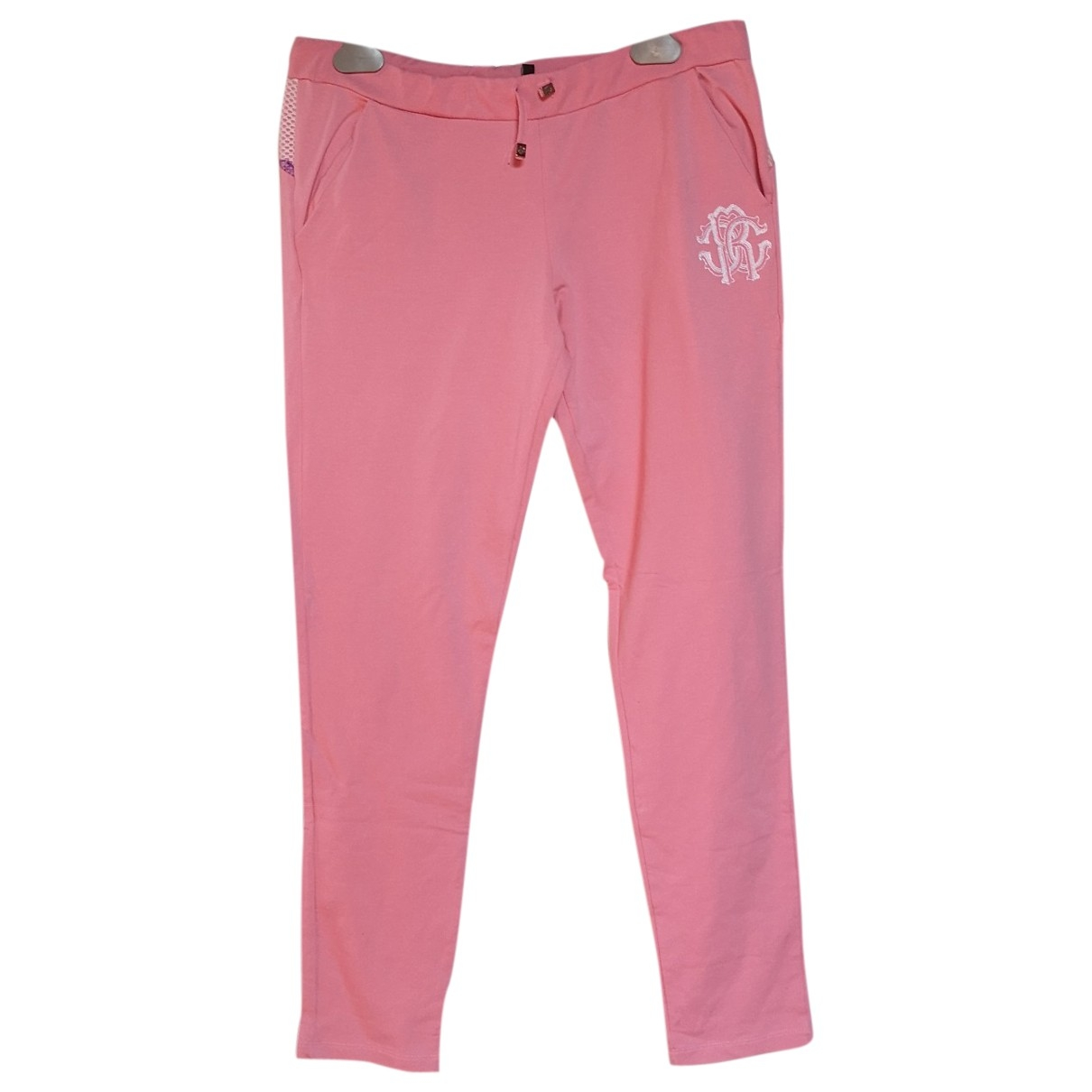 Roberto Cavalli \N Pink Cotton Trousers for Kids 18 years - L FR