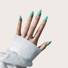 24pcs Plain Fake Nails