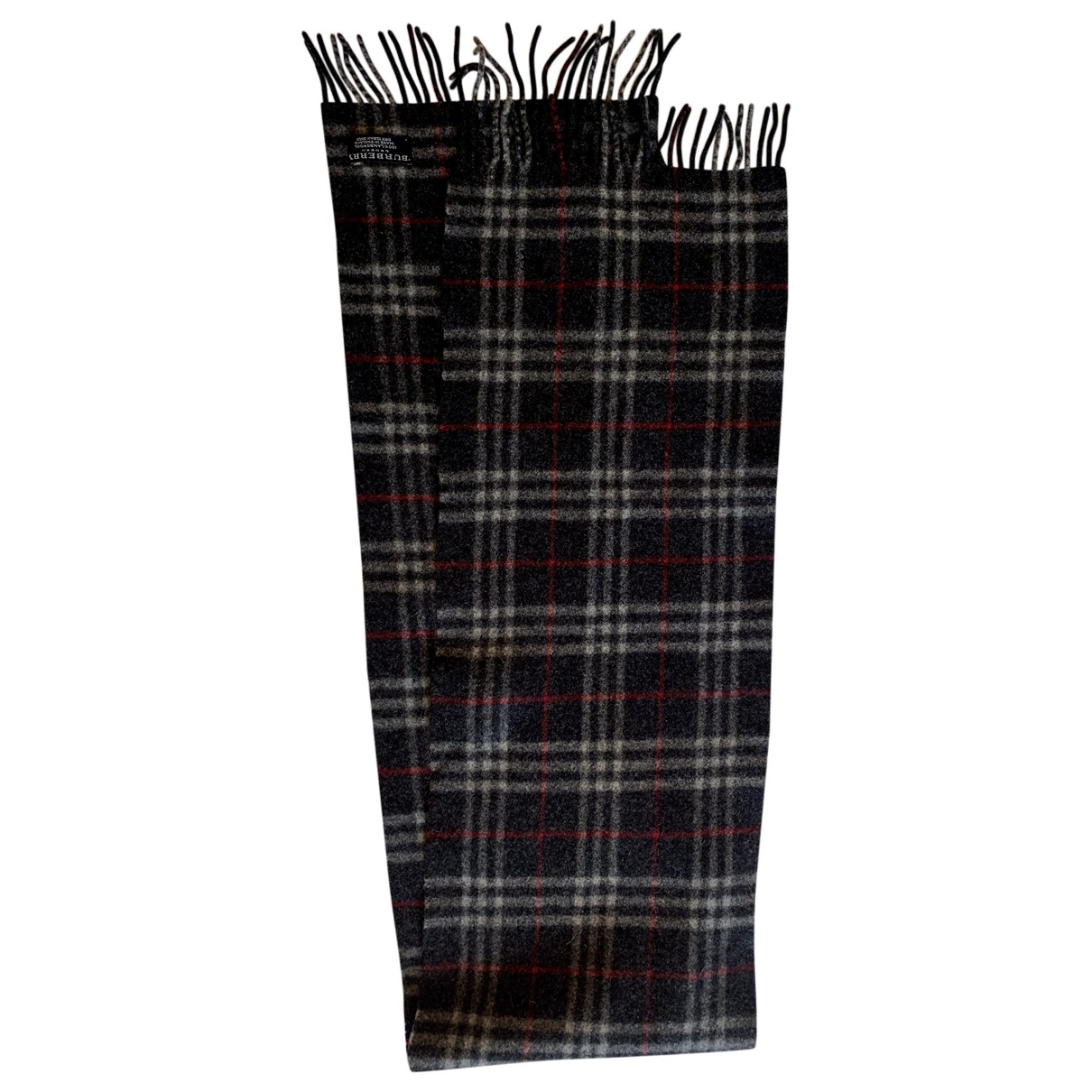 Burberry \N Grey Wool scarf & pocket squares for Men \N