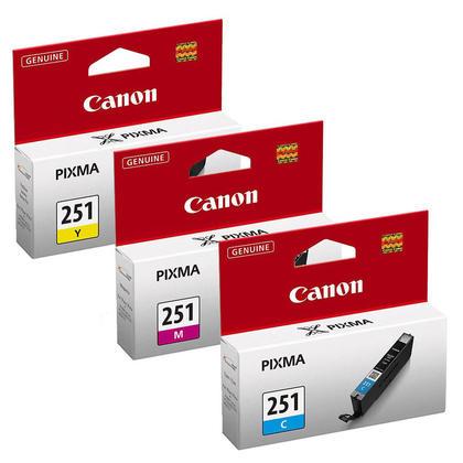 Canon PIXMA MG5520 cartouches encre couleurs C/M/Y originales, ensemble de 3 - rendement standard