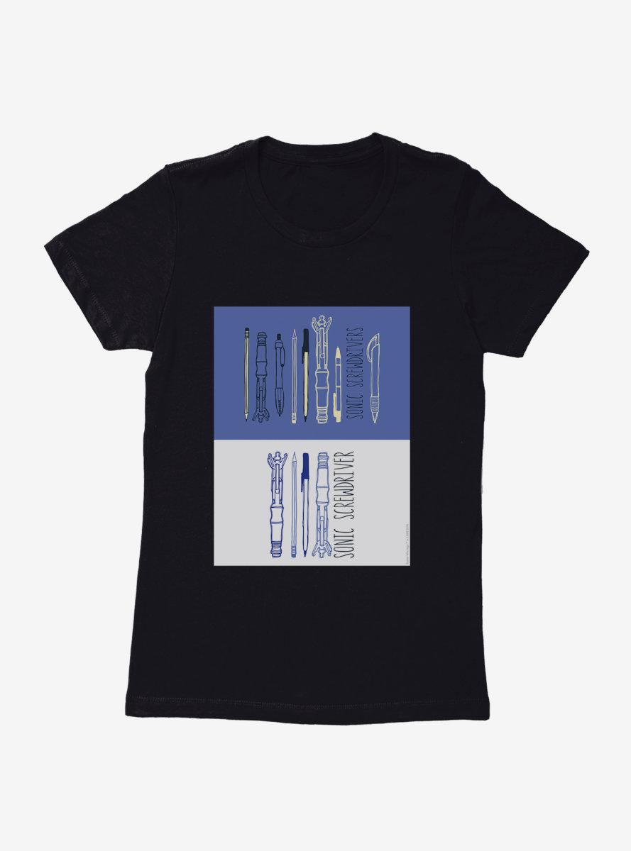 Doctor Who Screwdrivers Set Womens T-Shirt