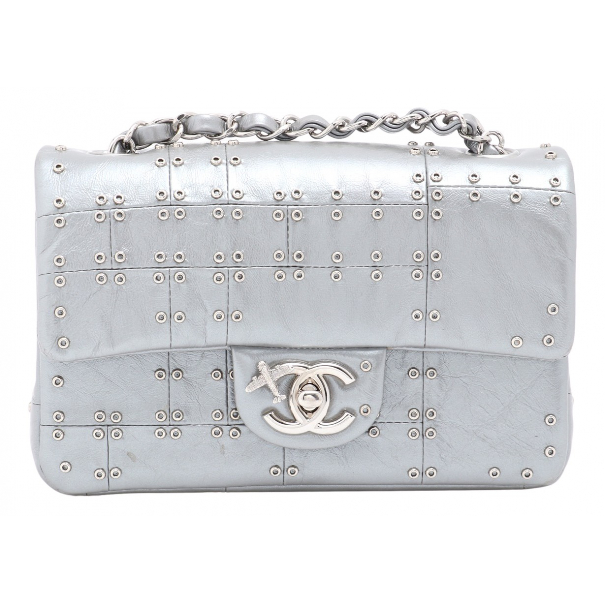 Chanel Timeless/Classique Silver Leather handbag for Women \N