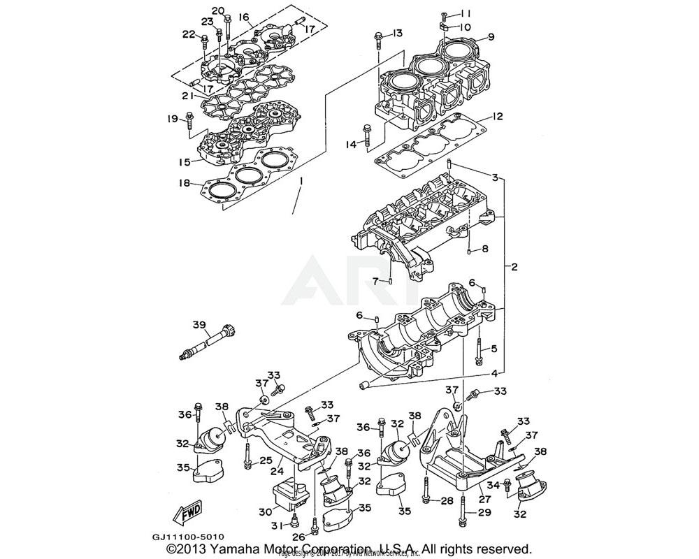 Yamaha OEM 63M-44517-01-94 MOUNT RUBBER