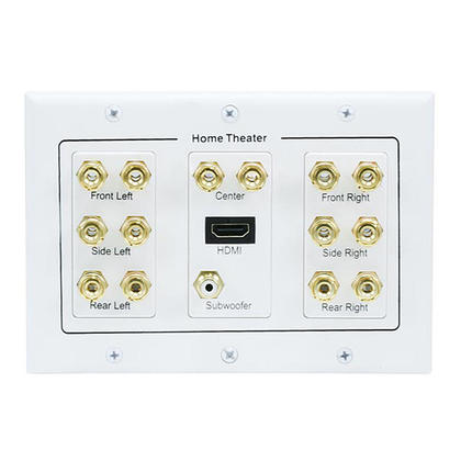 3-Gang 7.1 Surround Sound Distribution Wall Plate with HDMI - Monoprice®