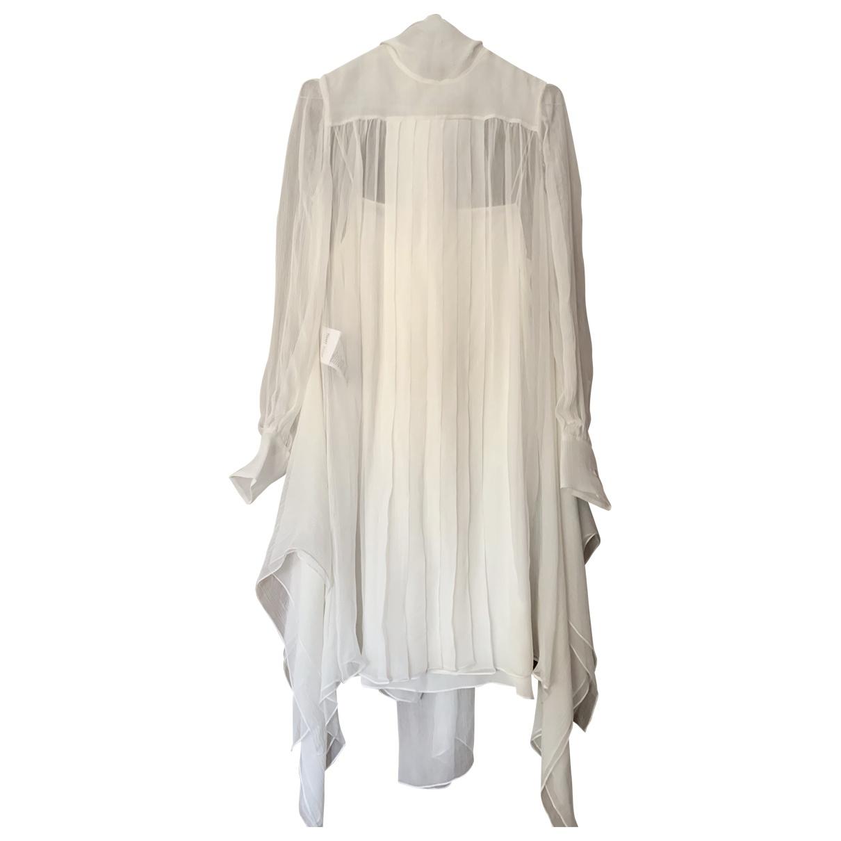 Miu Miu \N White Silk dress for Women 40 IT