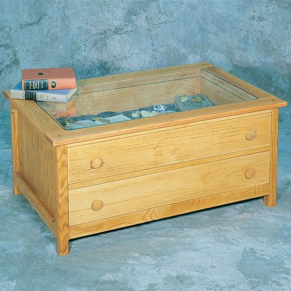 Woodworking Project Paper Plan to Build Curio Table, Plan No. 854