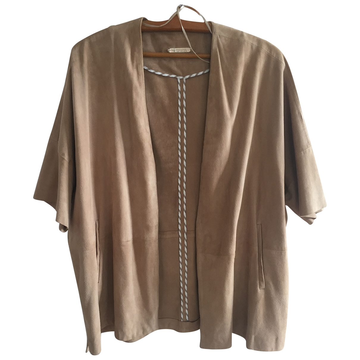 Massimo Dutti \N Camel Suede jacket for Women S International