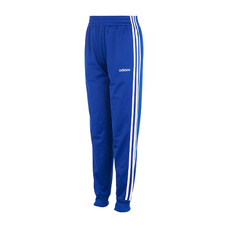 adidas Little Boys Mid Rise Cuffed Jogger Pant, 6 , Blue