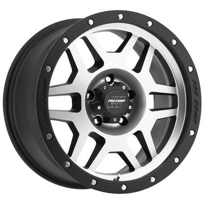 Pro Comp 41 Series Phaser, 17x9 Wheel with 5 on 5 Bolt Pattern - Machine Black with Stainless Steel Bolts - 3541-7973