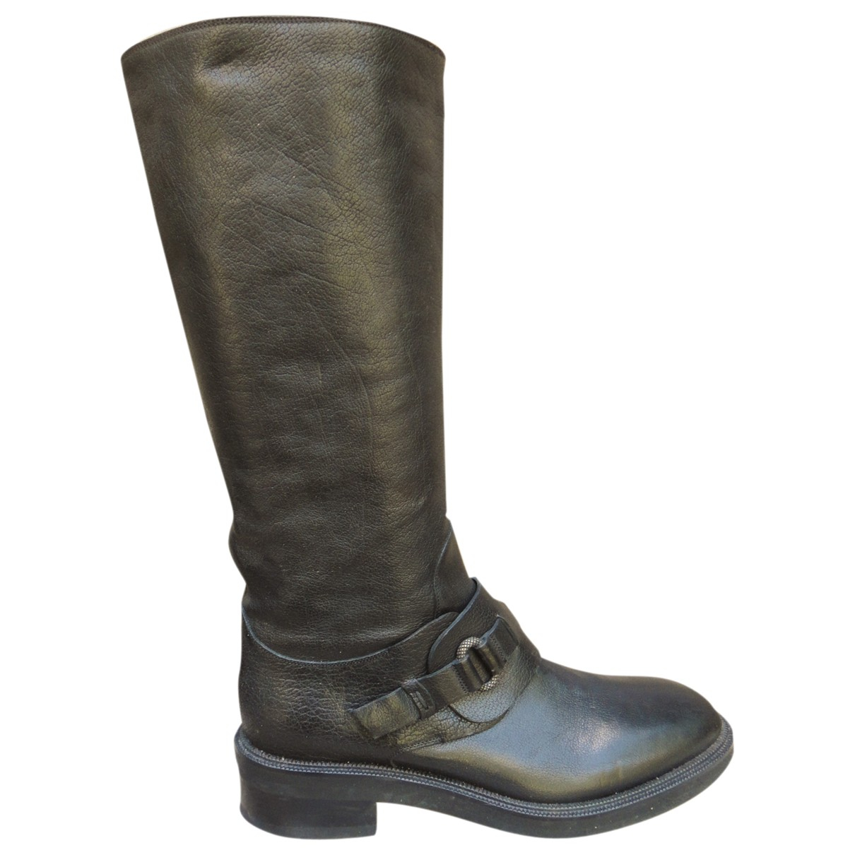 Sartore \N Black Leather Boots for Women 37.5 IT