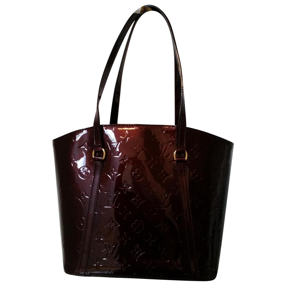 Louis Vuitton Avalon Burgundy Patent leather handbag for Women \N