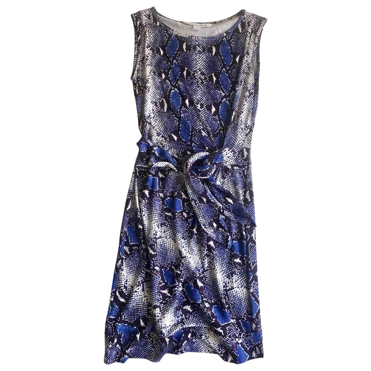Diane Von Furstenberg \N Blue Silk dress for Women 2 US