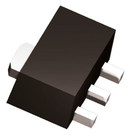 DiodesZetex Diodes Inc, 12 V Linear Voltage Regulator, 100mA, 1-Channel, ±5% 3-Pin, SOT-89 AS78L12RTR-G1 (50)