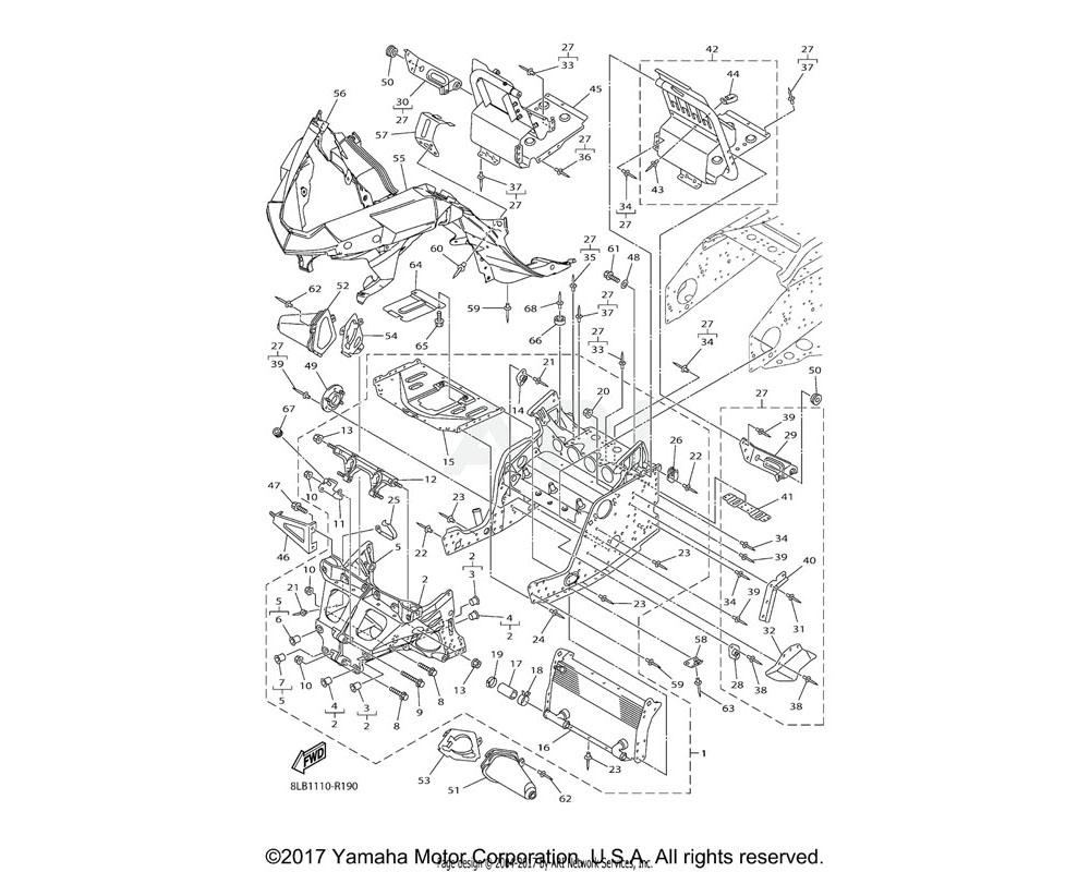 Yamaha OEM 8HG-2193E-00-00 BRACKET, OIL TANK 1