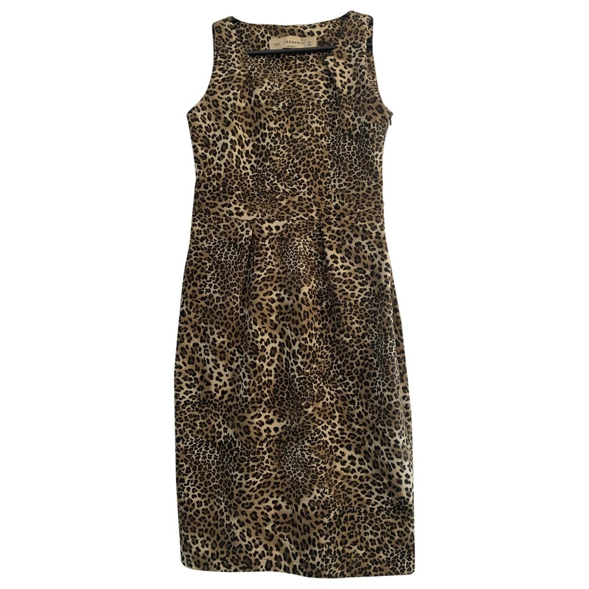 Zara \N Camel dress for Women S International