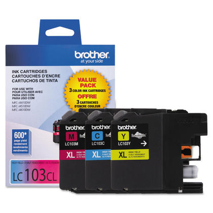 Brother LC1033PKS Original Color Ink Cartridge Combo C/M/Y High Yield