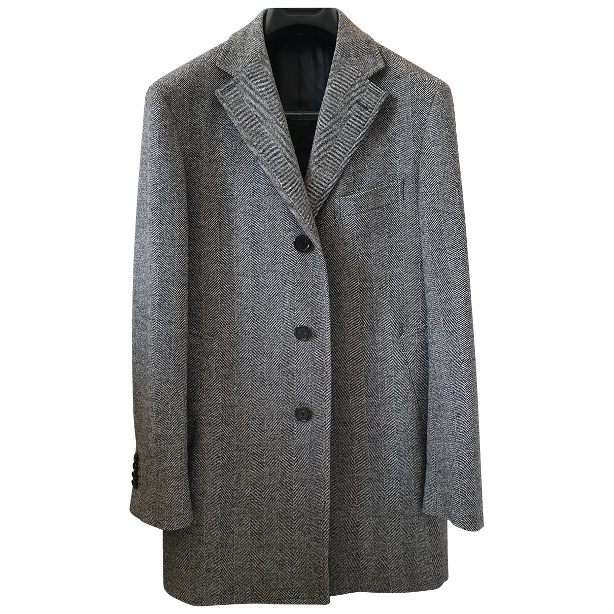 Non Signé / Unsigned \N Grey Wool coat  for Men 46 IT
