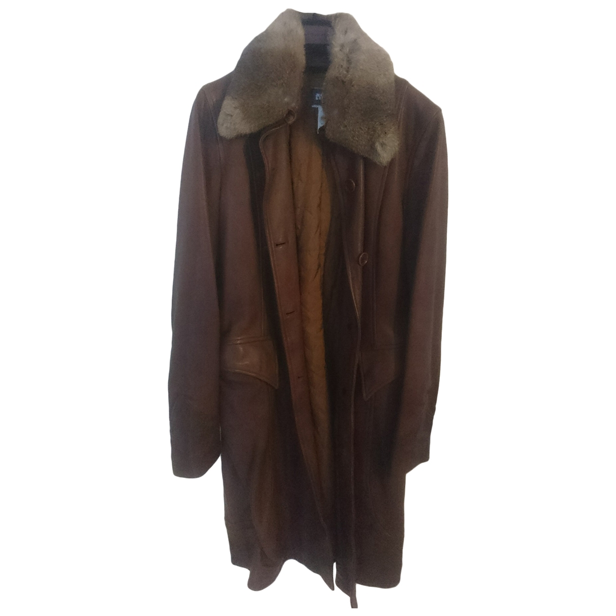 Jean Paul Gaultier \N Brown Leather coat for Women 42 IT