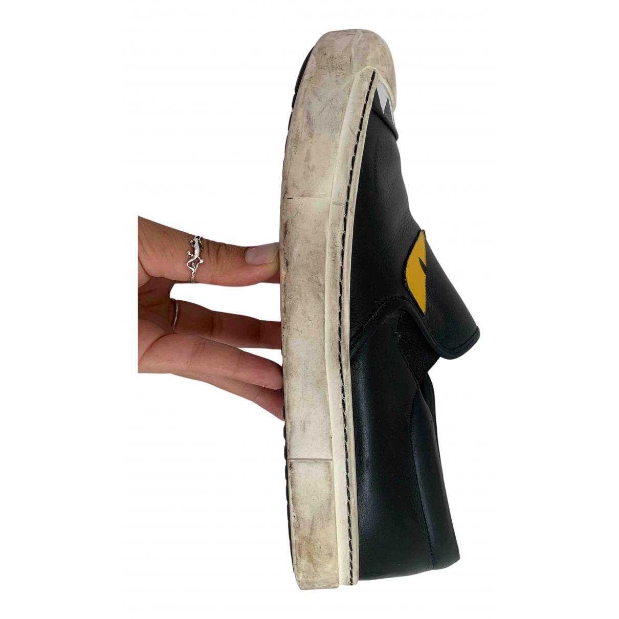 Fendi \N Black Leather Trainers for Women 40 EU