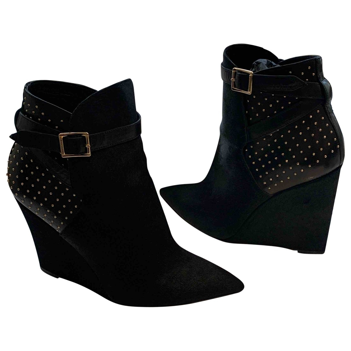 Burberry \N Black Suede Ankle boots for Women 39 EU