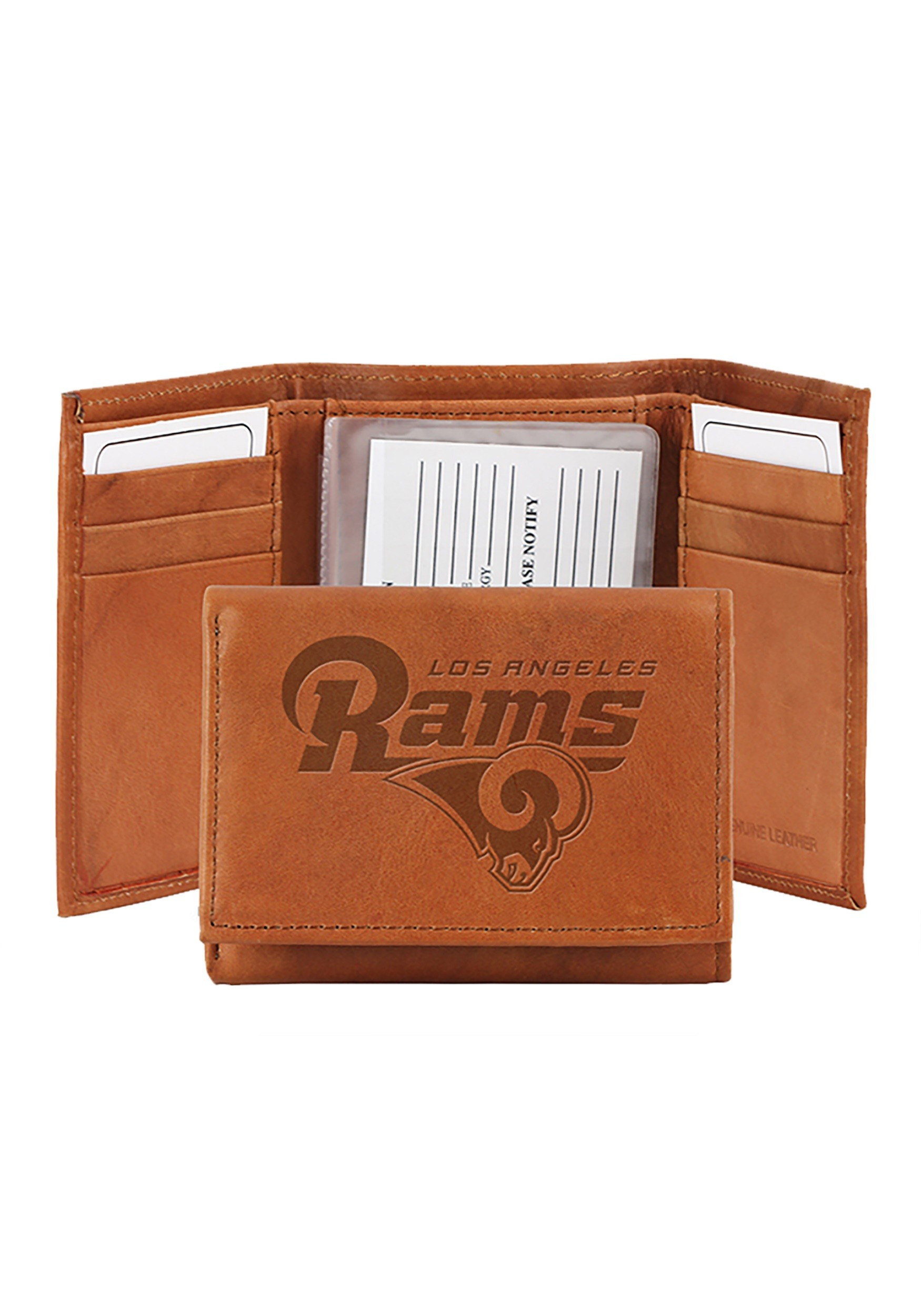 NFL Los Angeles Rams Genuine Tri-Fold Leather Wallet