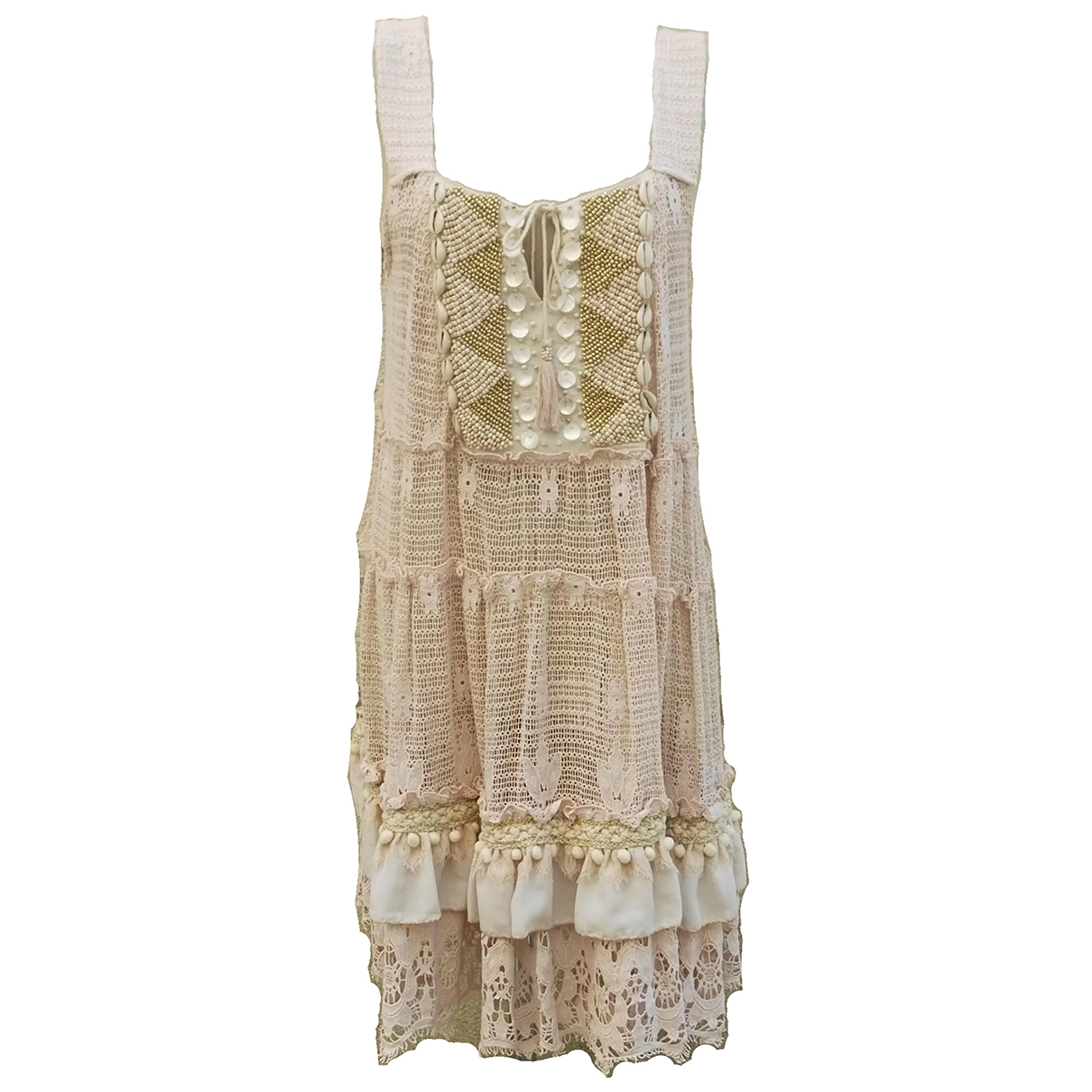 Non Signé / Unsigned \N Pink Cotton dress for Women One Size International