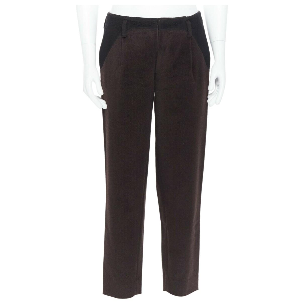 Kolor \N Brown Wool Trousers for Men 28 UK - US