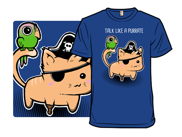 Talk Like A Purrate Day. T Shirt
