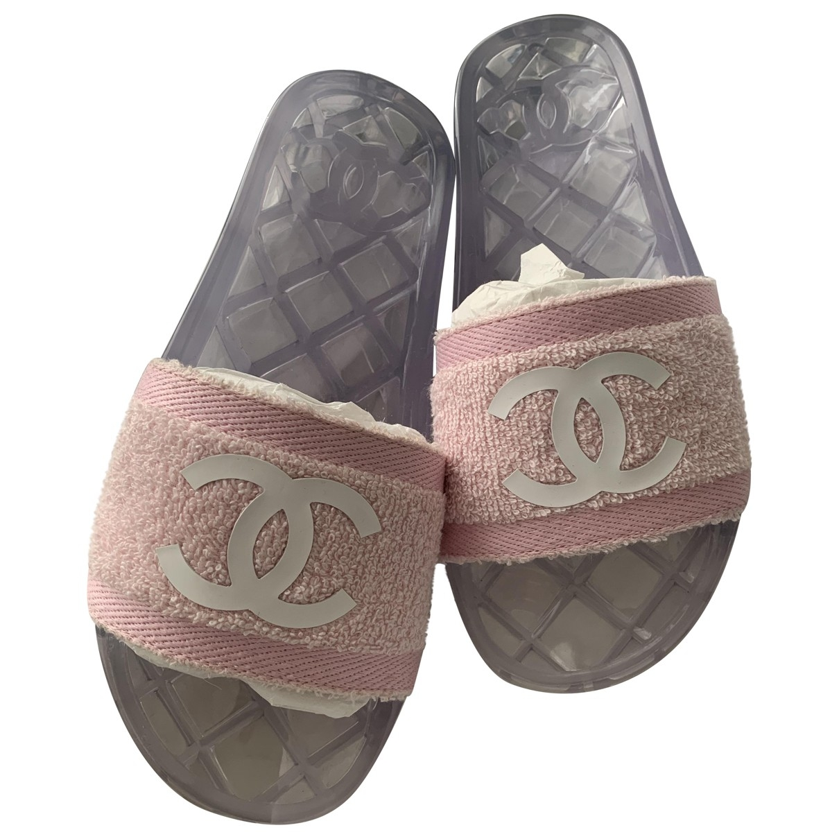 Chanel \N Pink Cloth Mules & Clogs for Women 38 EU