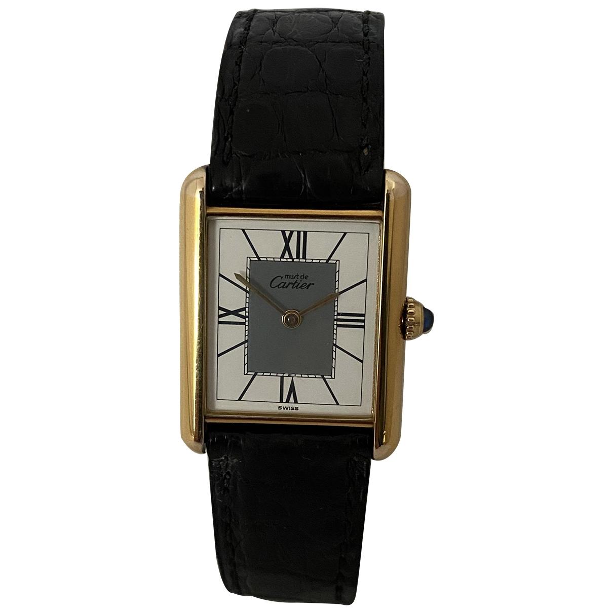 Cartier Tank Must Ecru Silver Gilt watch for Men \N
