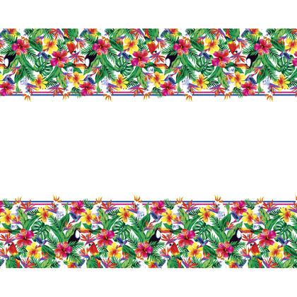 Housse de table rectangulaire en plastique tropical luau Palm, 54