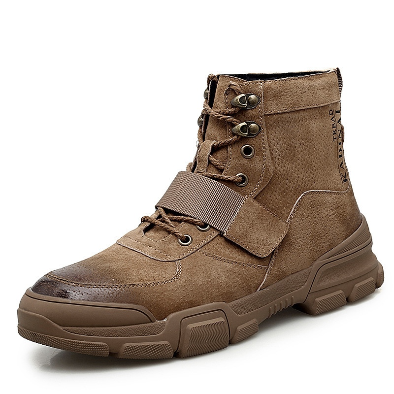 Ericdress Plain Round Toe Lace-Up Front Men's Winter Martin Boots