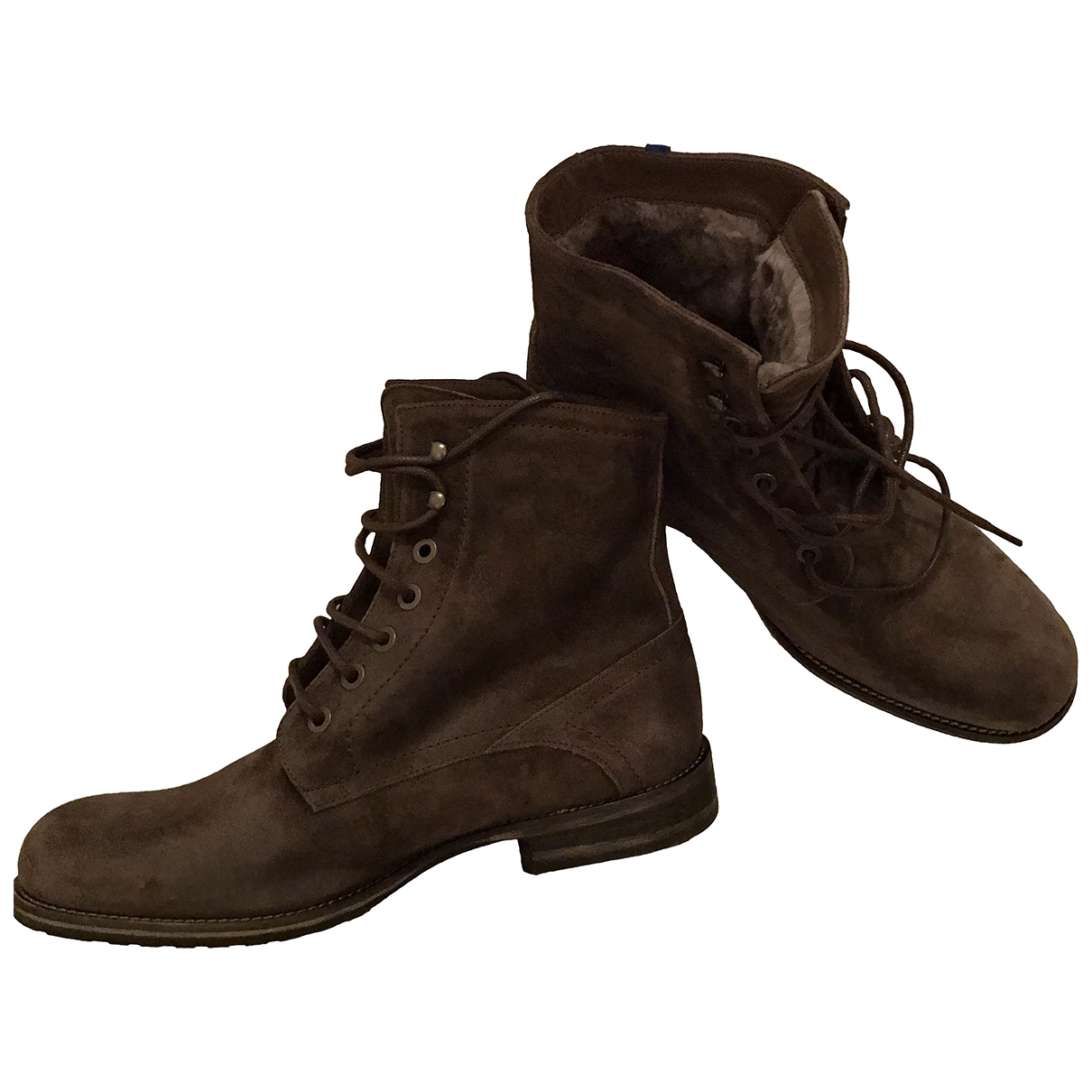 Non Sign?? / Unsigned \N Brown Leather Boots for Men 8.5 UK