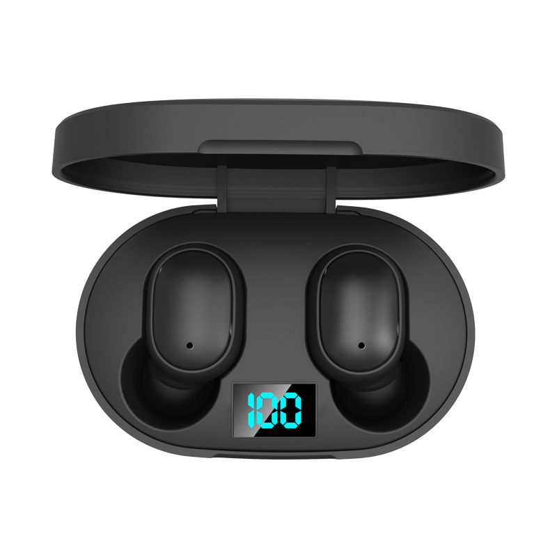E6S Bluetooth 5.0 TWS Earphones Siri LED Power Display Binaural Call