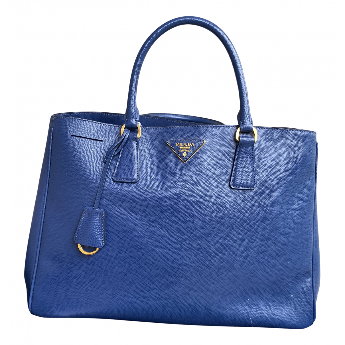 Prada saffiano  Blue Leather handbag for Women N