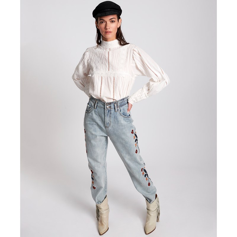 WOODSTOCK EMBROIDERED PIONEER 80S JEANS