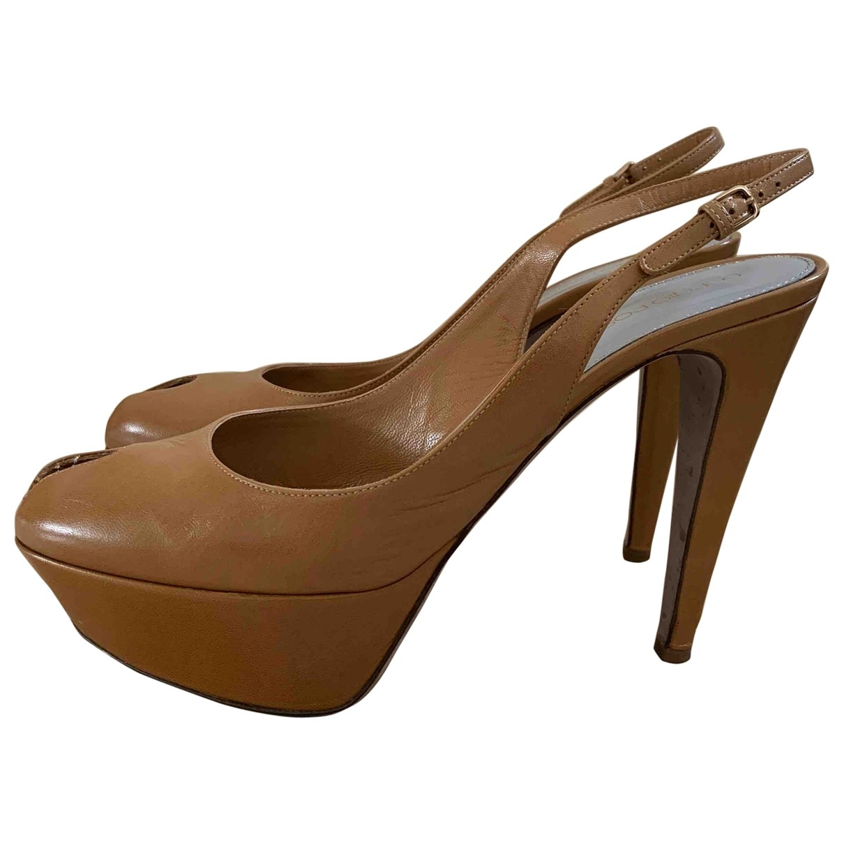 Sergio Rossi \N Camel Leather Sandals for Women 39 EU