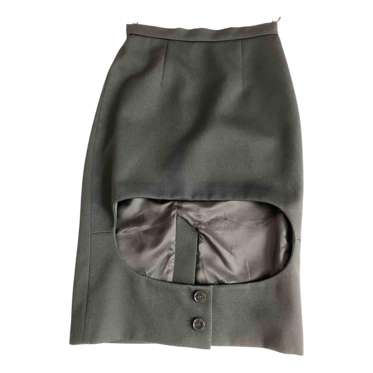 Burberry \N Black Wool skirt for Women 36 IT