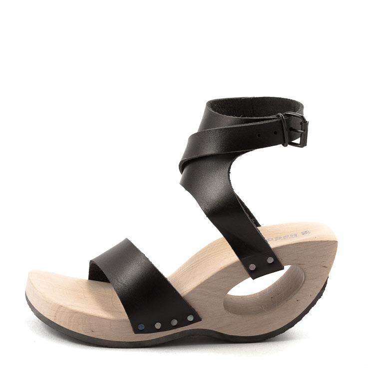 Trippen, Bondage Wood Women's Sandals, black Größe 40