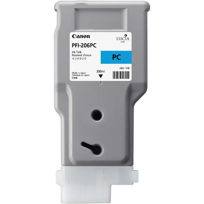 Canon PFI-206PC 5307B001AA Original Photo Cyan Ink Cartridge