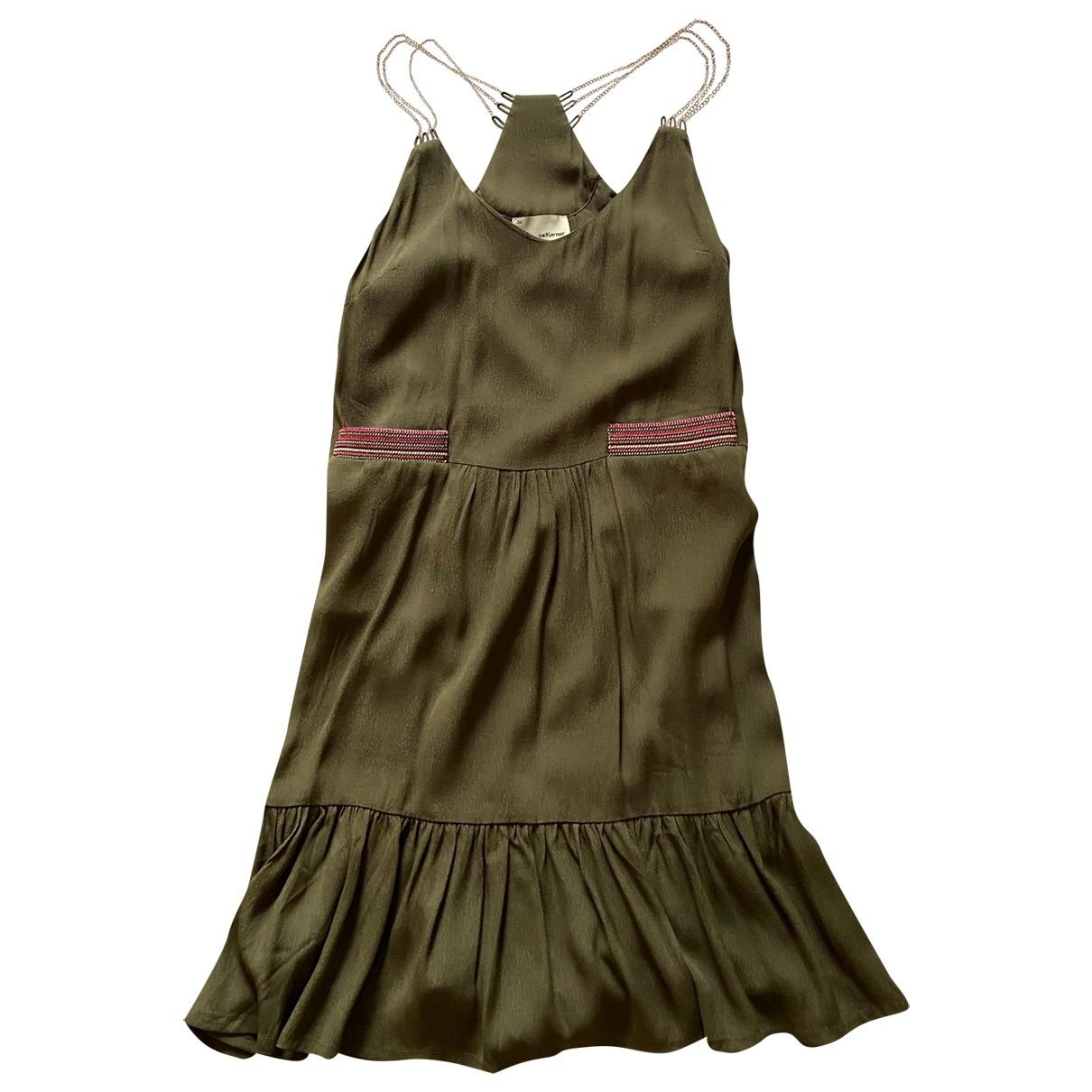 Non Signé / Unsigned \N Khaki Cotton dress for Women 36 FR