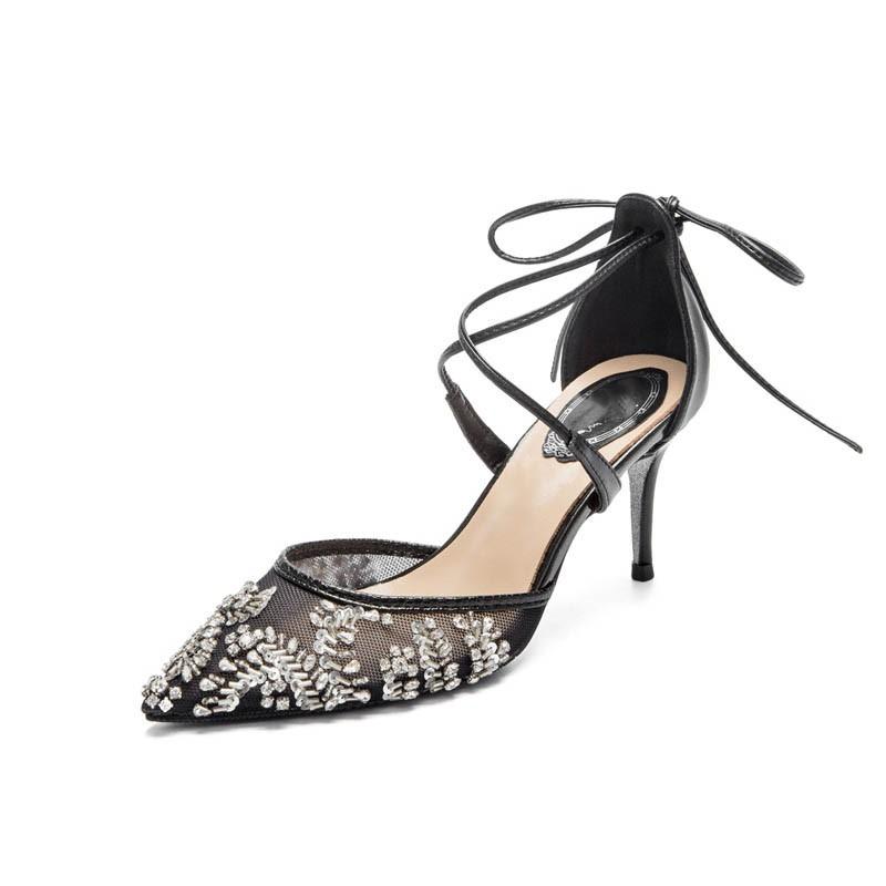 Ericdress Rhinestone Stiletto Heel Pointed Toe Women's Prom Shoes