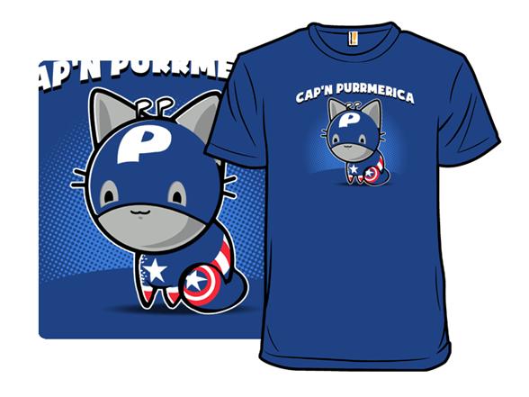 Cap'n Purrmerica T Shirt