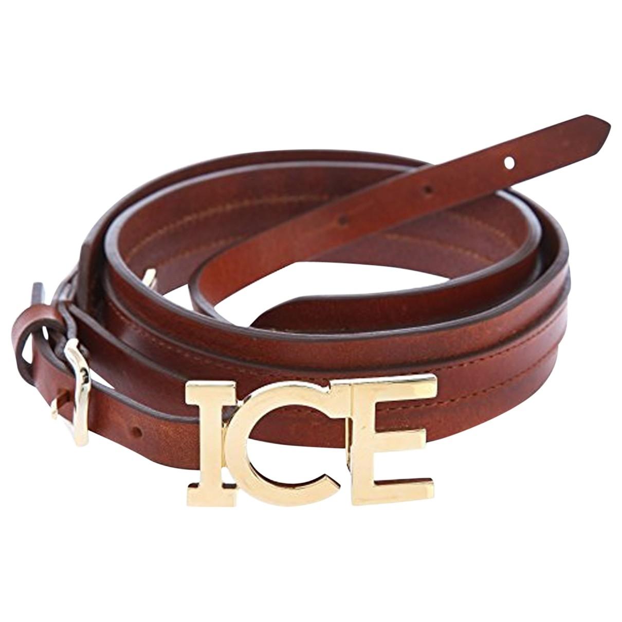 Iceberg \N Brown Leather belt for Women 80 cm