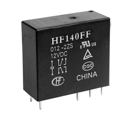 Hongfa Europe GMBH , 5V dc Coil Non-Latching Relay DPNO, 10A Switching Current PCB Mount, 2 Pole (2)