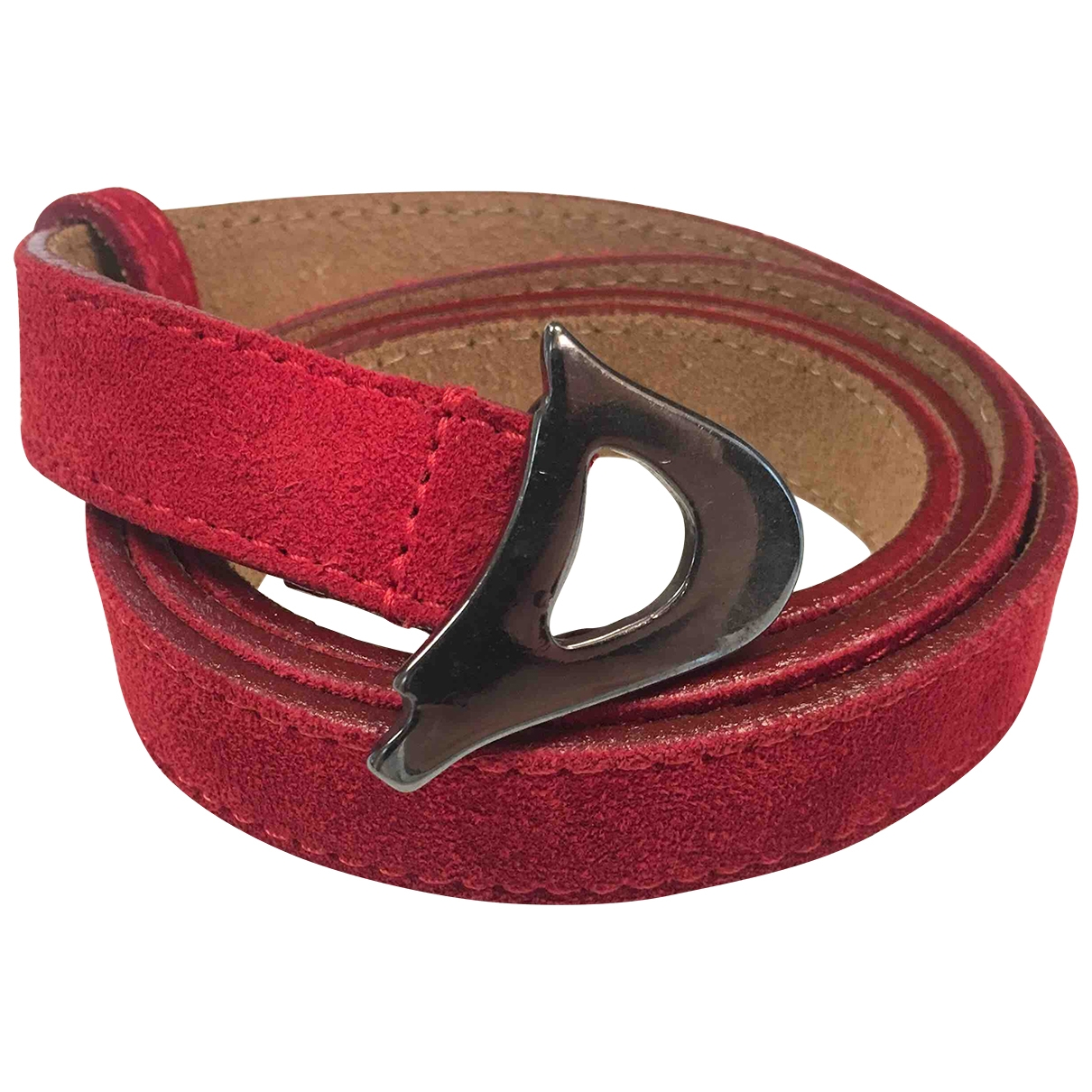 Dondup \N Red Suede belt for Women 95 cm