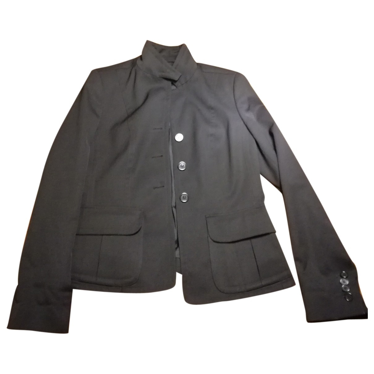 Burberry \N Black Cotton jacket for Women 40 IT
