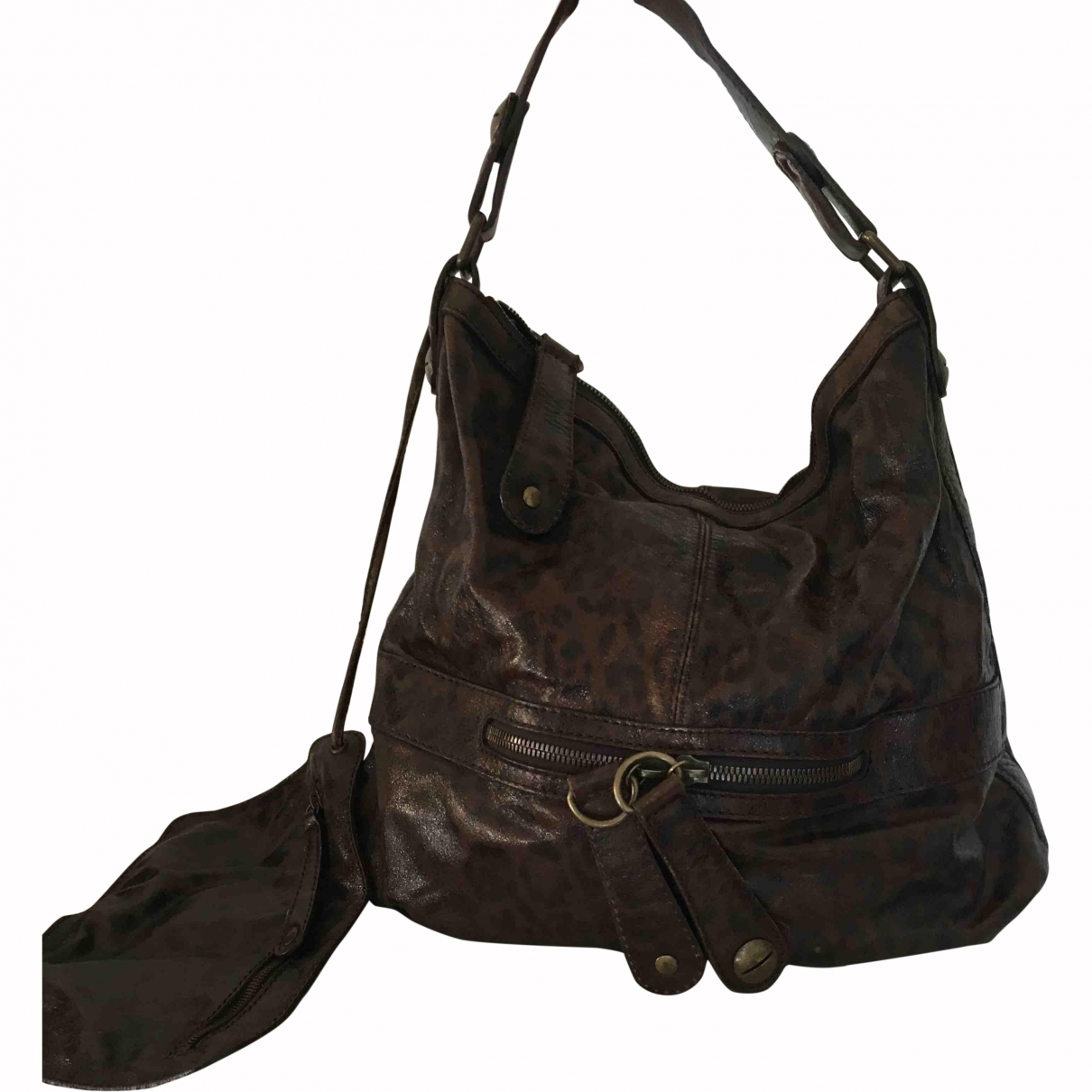 Gerard Darel Midday Midnight Brown Patent leather handbag for Women \N