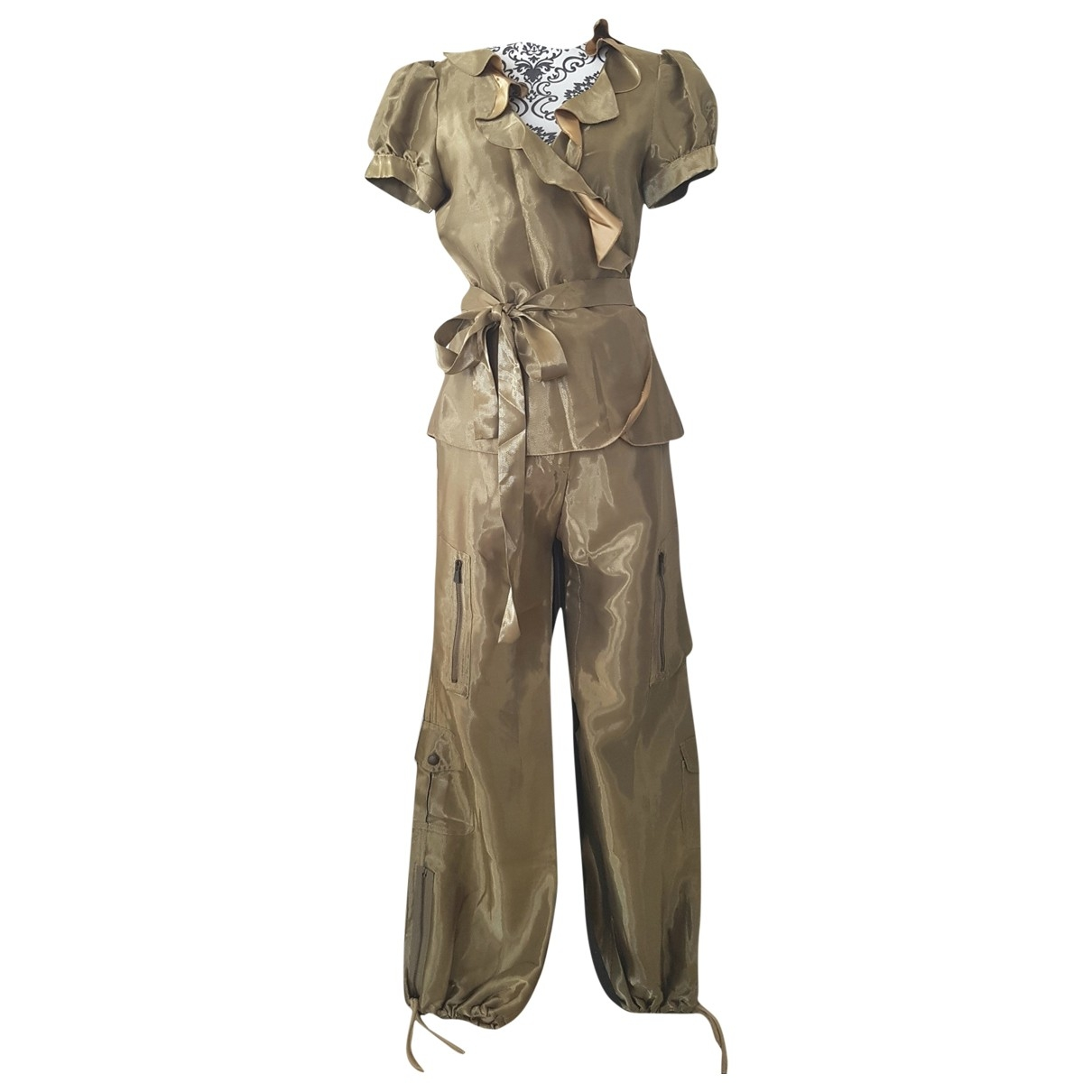 Moschino Cheap And Chic \N Gold Silk Trousers for Women 40 FR