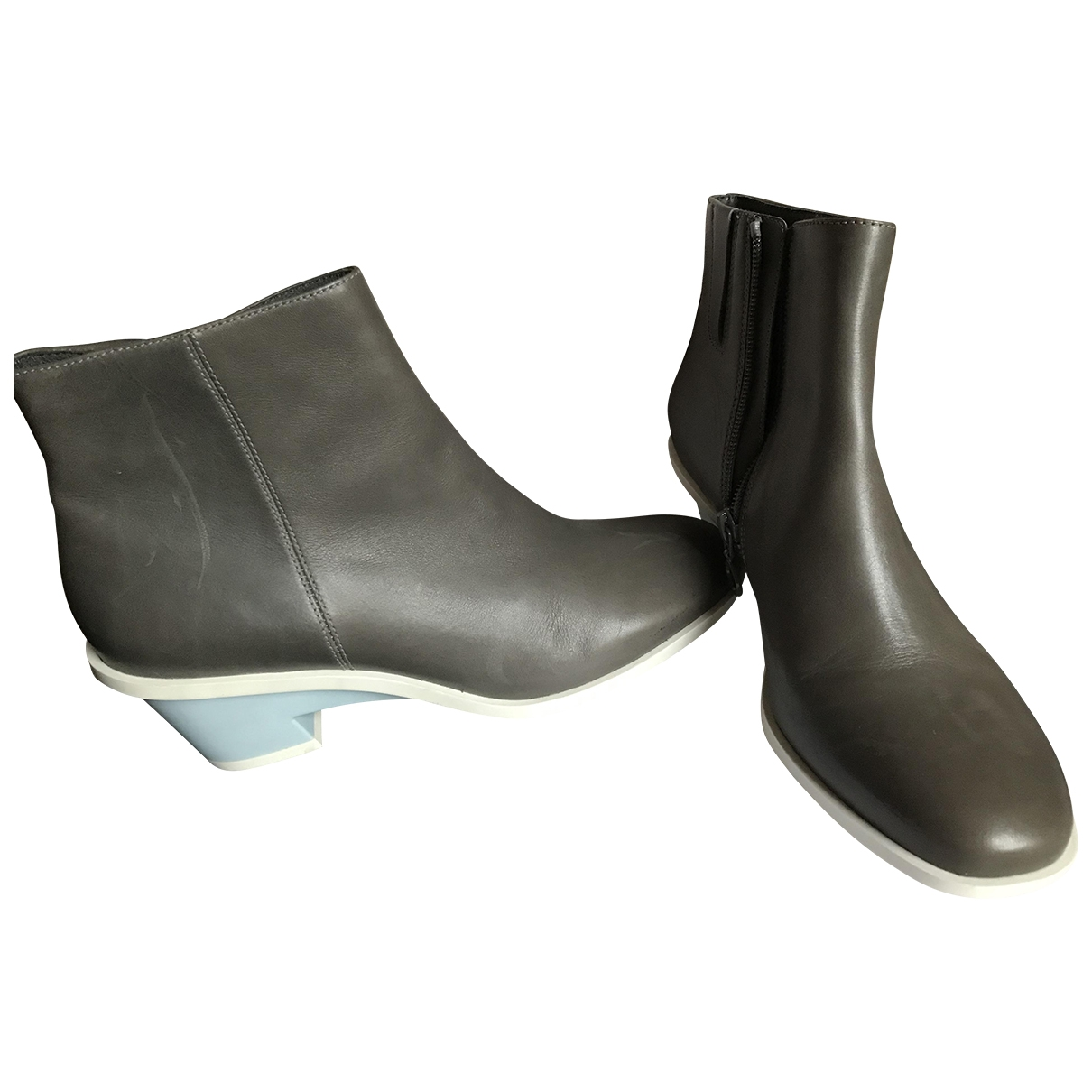 Camper \N Grey Leather Boots for Women \N